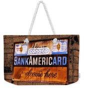 Bankamericard Welcome Here Weekender Tote Bag