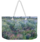 Banks Of The Seine At Vetheuil Weekender Tote Bag