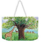 Baobab And Giraffe Weekender Tote Bag