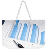 Bar Chart Weekender Tote Bag