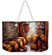 Bar - Wine - The Wine Cellar  Weekender Tote Bag by Mike Savad