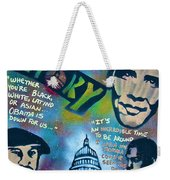 Barack And Common And Kanye Weekender Tote Bag