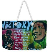 Barack And Fifty Cent Weekender Tote Bag