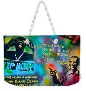 Barack And Jay Z Weekender Tote Bag