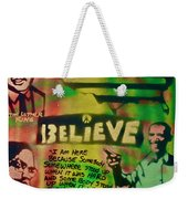 Barack And Martin And Malcolm Weekender Tote Bag