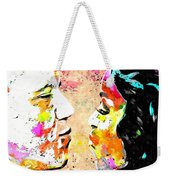Barack And Michelle  Weekender Tote Bag by Daniel Janda