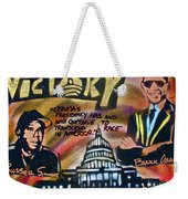 Barack And Russell Simmons Weekender Tote Bag