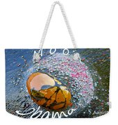 Barack Obama Moon Weekender Tote Bag by Augusta Stylianou