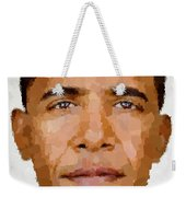 Barack Obama Weekender Tote Bag by Samuel Majcen