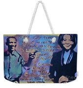 Barack With Michelle Weekender Tote Bag