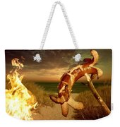 Barbecue On The Beach Weekender Tote Bag