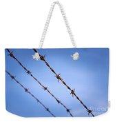 Barbed Wire Close Weekender Tote Bag