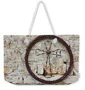 Barbed Wire Cross Weekender Tote Bag