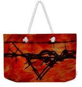 Barbed Wire Love Series  Rage Weekender Tote Bag