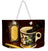 Barber - Shaving Mug And Toilet Water Weekender Tote Bag