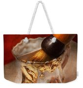 Barber - Shaving - The Beauty Of Barbering Weekender Tote Bag by Mike Savad