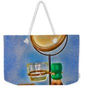 Barber - The Shaving Mirror Weekender Tote Bag