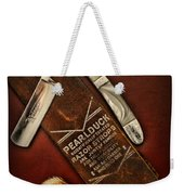 Barber - Tools For A Close Shave  Weekender Tote Bag