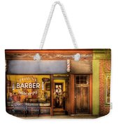 Barber - Towne Barber Shop Weekender Tote Bag by Mike Savad