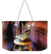Barber - Vintage Child's Barber Chair Weekender Tote Bag