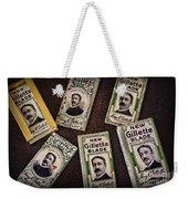 Barber - Vintage Gillette Razor Blades Weekender Tote Bag