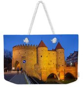 Barbican At Night In The Old Town Of Warsaw Weekender Tote Bag