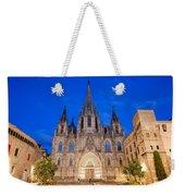 Barcelona Cathedral At Night Weekender Tote Bag