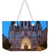 Barcelona Cathedral In The Evening Weekender Tote Bag