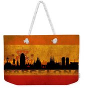 Barcelona City Weekender Tote Bag