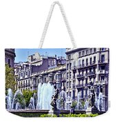 Barcelona Fountain Weekender Tote Bag
