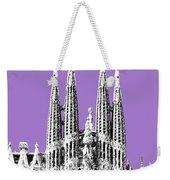 Barcelona Skyline La Sagrada Familia - Violet Weekender Tote Bag
