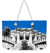 Barcelona Skyline Park Guell - Blue Weekender Tote Bag