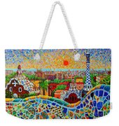 Barcelona View At Sunrise - Park Guell  Of Gaudi Weekender Tote Bag
