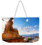 Barcelona View From Catalunya National Museum Of Art Weekender Tote Bag