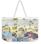 Bare Bods And Hot Rods Weekender Tote Bag