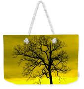 Bare Tree Against Yellow Background E88 Weekender Tote Bag