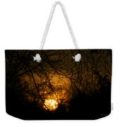 Bare Tree Branches With Winter Sunrise Weekender Tote Bag