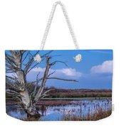 Bare Tree In Marsh Weekender Tote Bag
