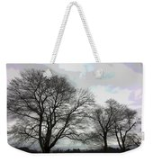 Bare Trees Winter Sky Weekender Tote Bag