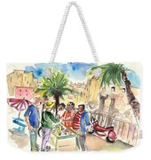 Bargaining Tourists In Siracusa Weekender Tote Bag