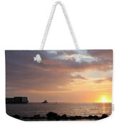Barge Into The Sunset Weekender Tote Bag