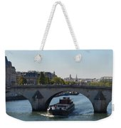 Barge On River Seine Weekender Tote Bag