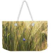Barley And Corn Flowers In The Field Weekender Tote Bag