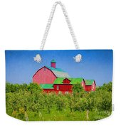 Barn And Apple Orchard Weekender Tote Bag