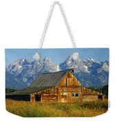 1m9394-barn And The Tetons Weekender Tote Bag