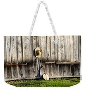 Barn Door And Banjo Mandolin Weekender Tote Bag by Bill Cannon