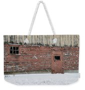 Barn Door In Winter Weekender Tote Bag