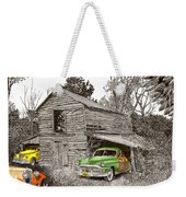 Barn Finds Classic Cars Weekender Tote Bag by Jack Pumphrey