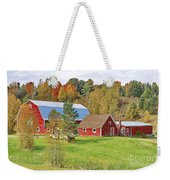 Barn In Autumn Weekender Tote Bag