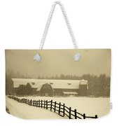 Barn Lake Placid N Y Weekender Tote Bag